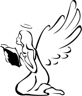 Angel with Book Clipart