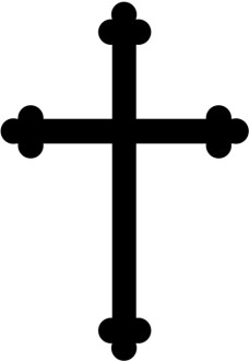 Black Trinity Cross Graphic