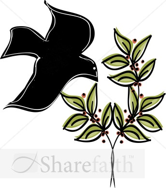 Dove on an Olive Branch