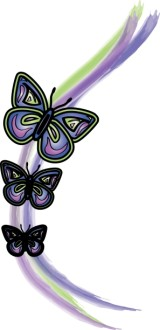 Purple Watercolor Butterflies