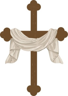 Draped Cross Graphic