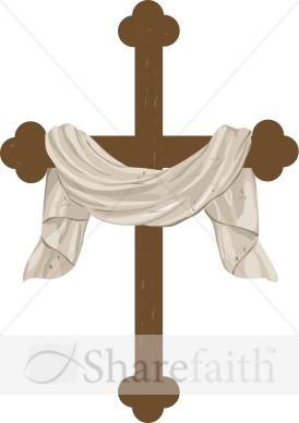 Draped Cross Graphic Cross Clipart