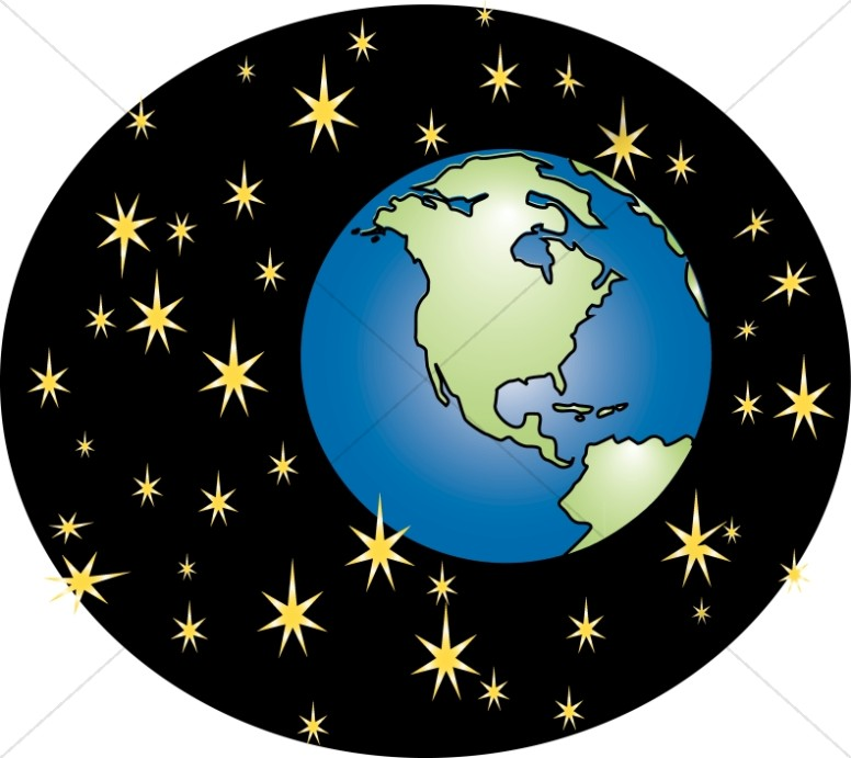 Earth and Stars Graphic