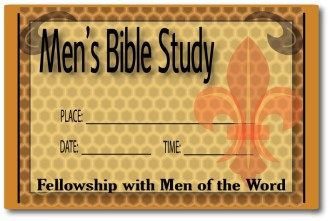 Mens Bible Study Invitation