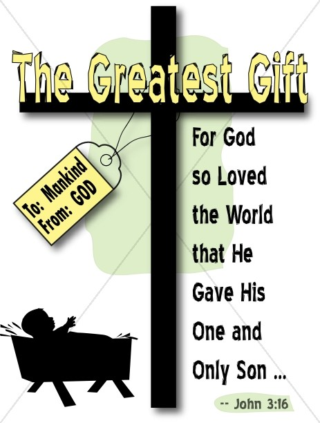 The Greatest Gift Word Art