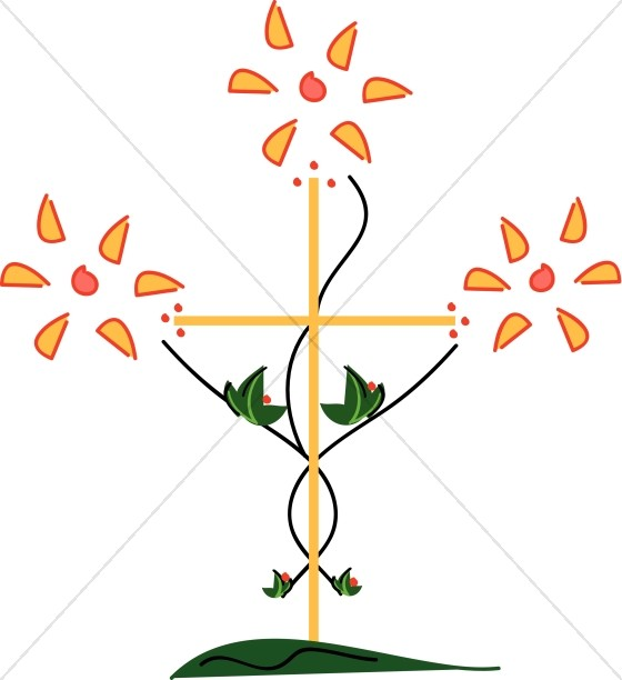 Abstract Flower Cross
