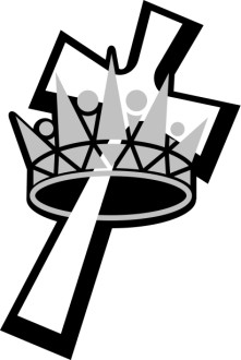 Black and White Crown in Cross
