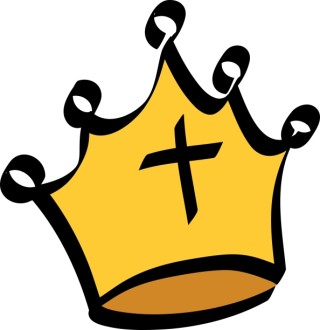 Black Cross on Gold Crown