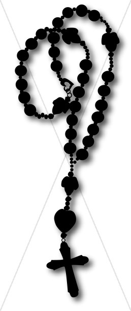 Silhouette Rosary Graphic