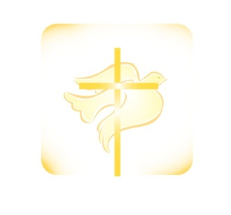 Cross and Light Yellow Dove
