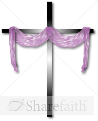Purple Cloth and Cross