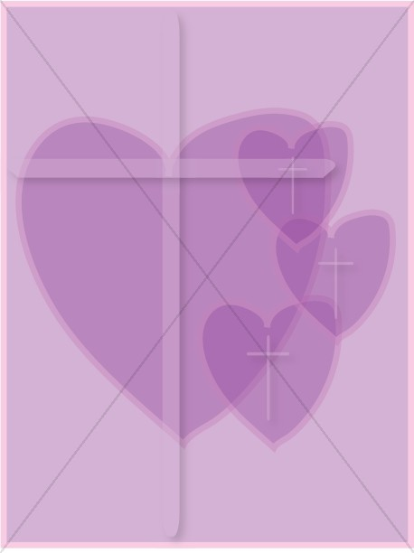 Faded Purple Hearts Clipart
