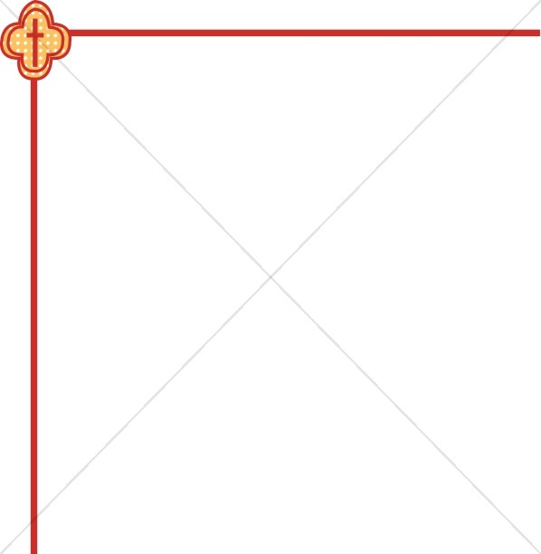 Patterned Cross Corner Border