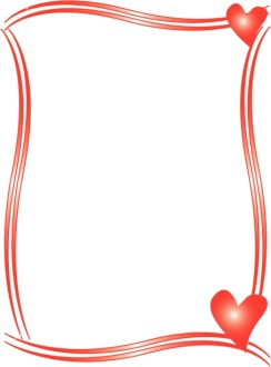 Two Red Hearts Border
