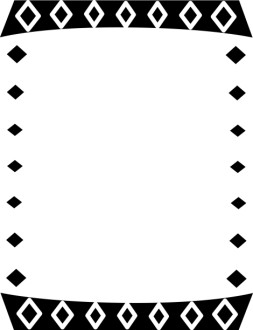 Black and White Diamonds Border