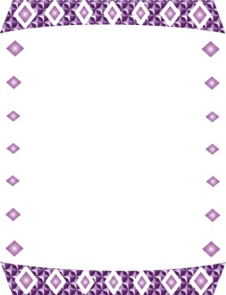 Purple Diamonds Border