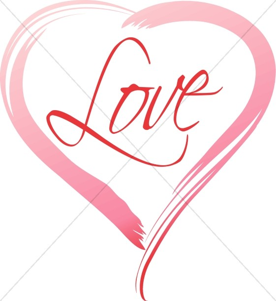 Love in a Pink Brushstroke Heart