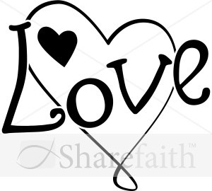 Fun Black and White Love Heart