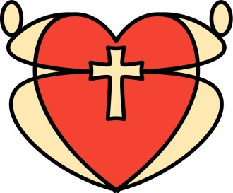 Graphic Heart and Cross