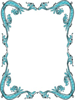 Blue Victorian Border