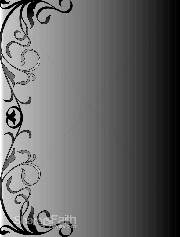 black and gray swirly background religious borders Thank You Clip Art Clip Art of Something Rolling