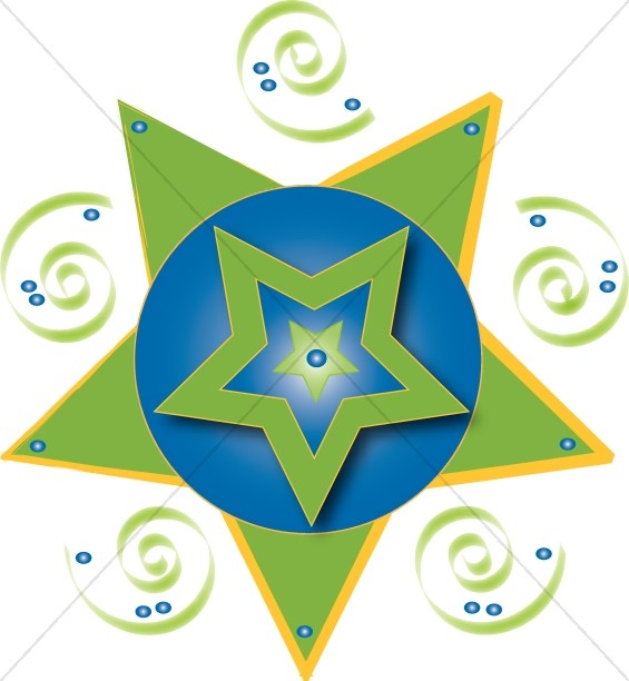 Layered Star Graphic