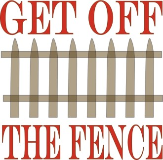 Get off the Fence Clipart