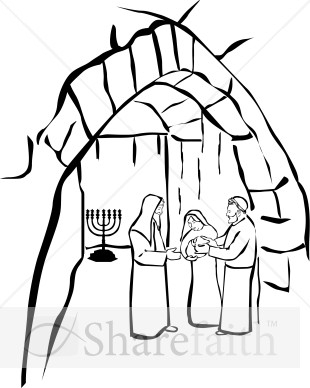 candlemas coloring pages | Candlemas Baby Jesus | Epiphany Clipart