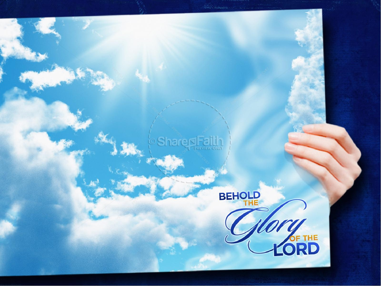 The Glory Of The Lord PowerPoint Sermon | slide 4