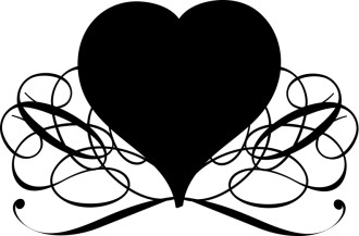 Flourishing Heart Valentines Day Clip Art