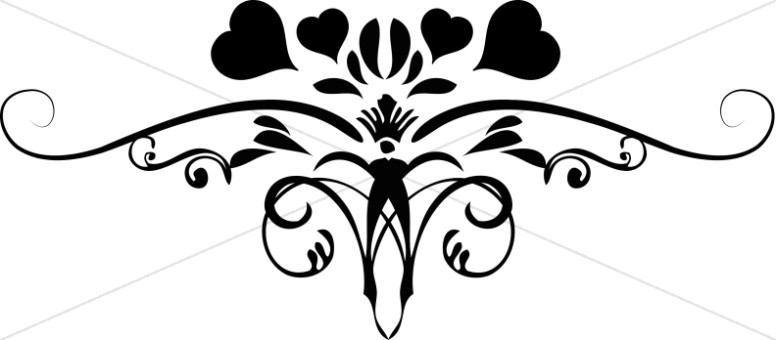 ornate heart flourish