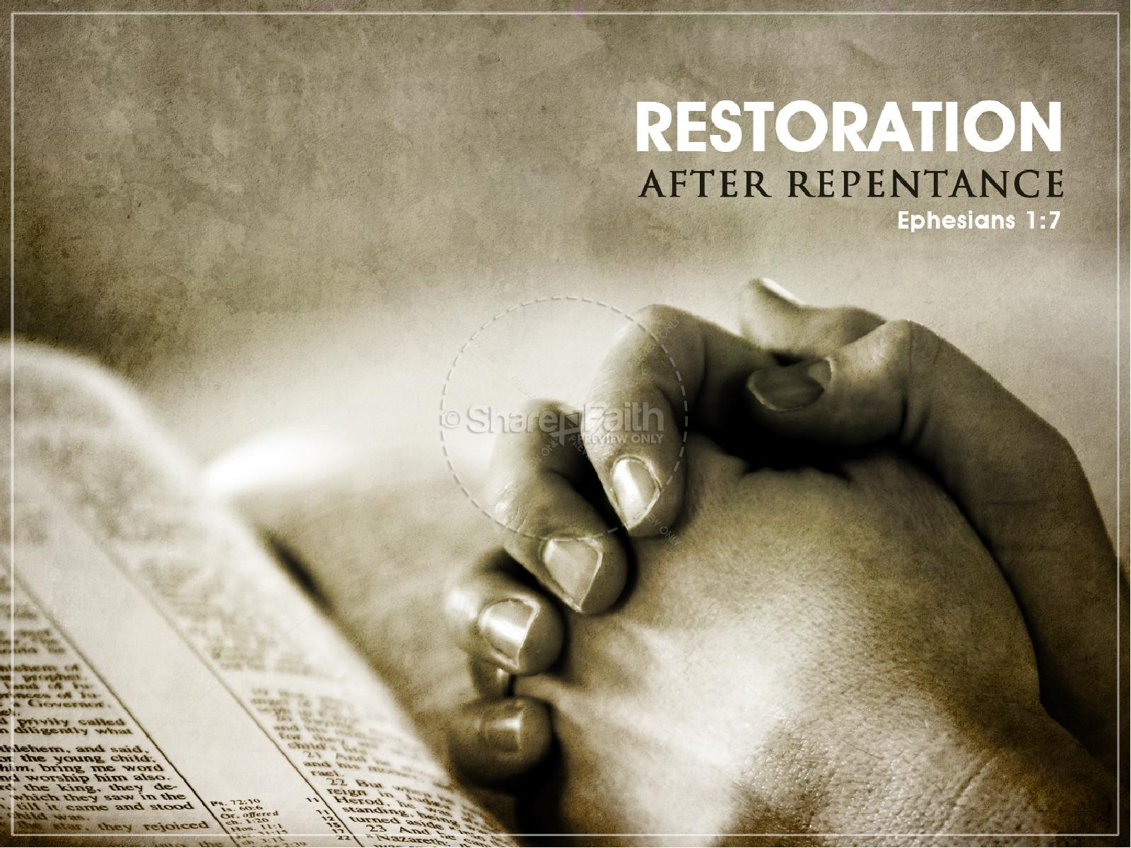 Restoration Christian PowerPoint Template | slide 3