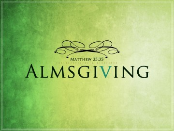 Almsgiving Church PowerPoint