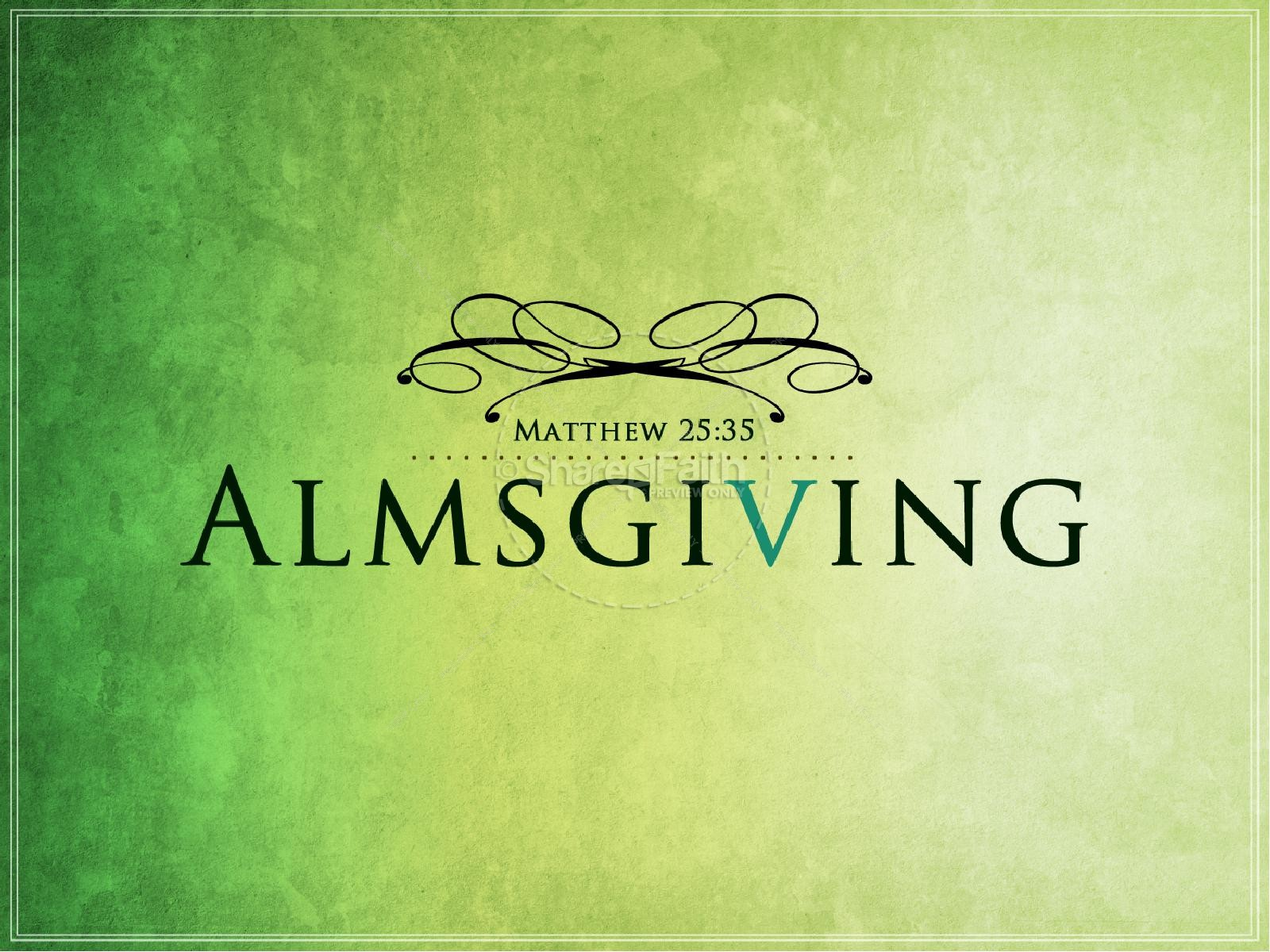 Almsgiving Church PowerPoint | slide 1
