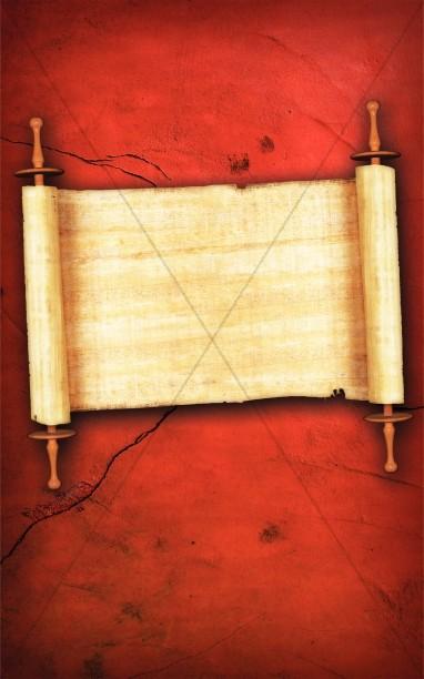 Paper Scroll Church Bulletin Cover