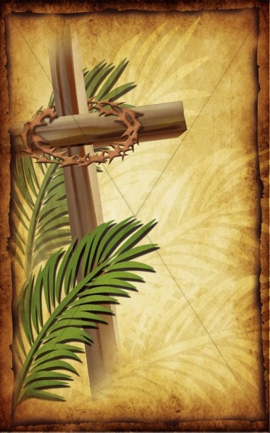 Palm Sunday Church Bulletin Cover