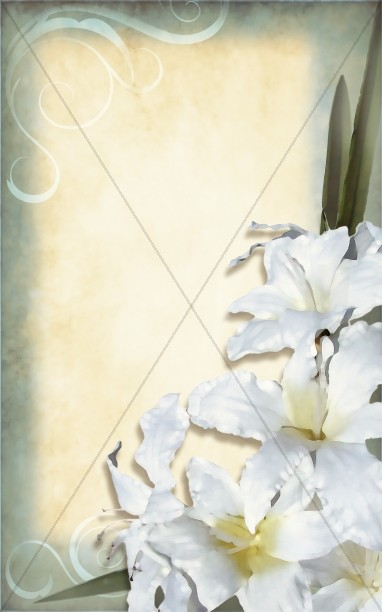 Easter Lilies Church Bulletin Cover
