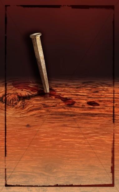 Wooden Cross Church Bulletin Cover