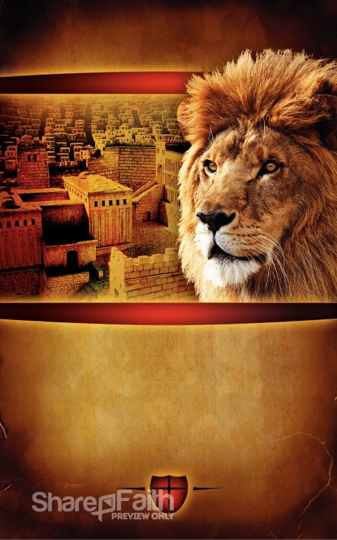 Lion of Judah Church Bulletin Cover Easter Bulletins