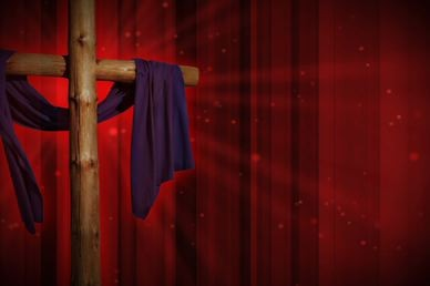 Draped Cross Worship Video Background