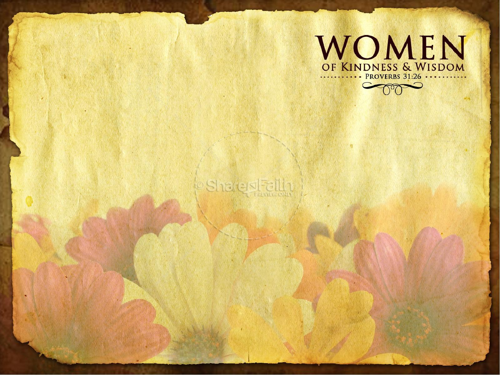 Women of Wisdom Church PowerPoint