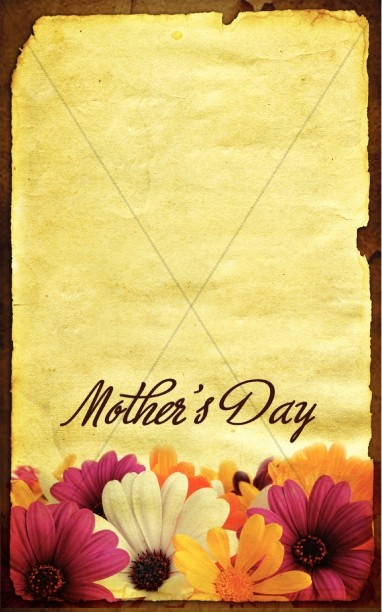 Mothers Day Church Bulletin Cover
