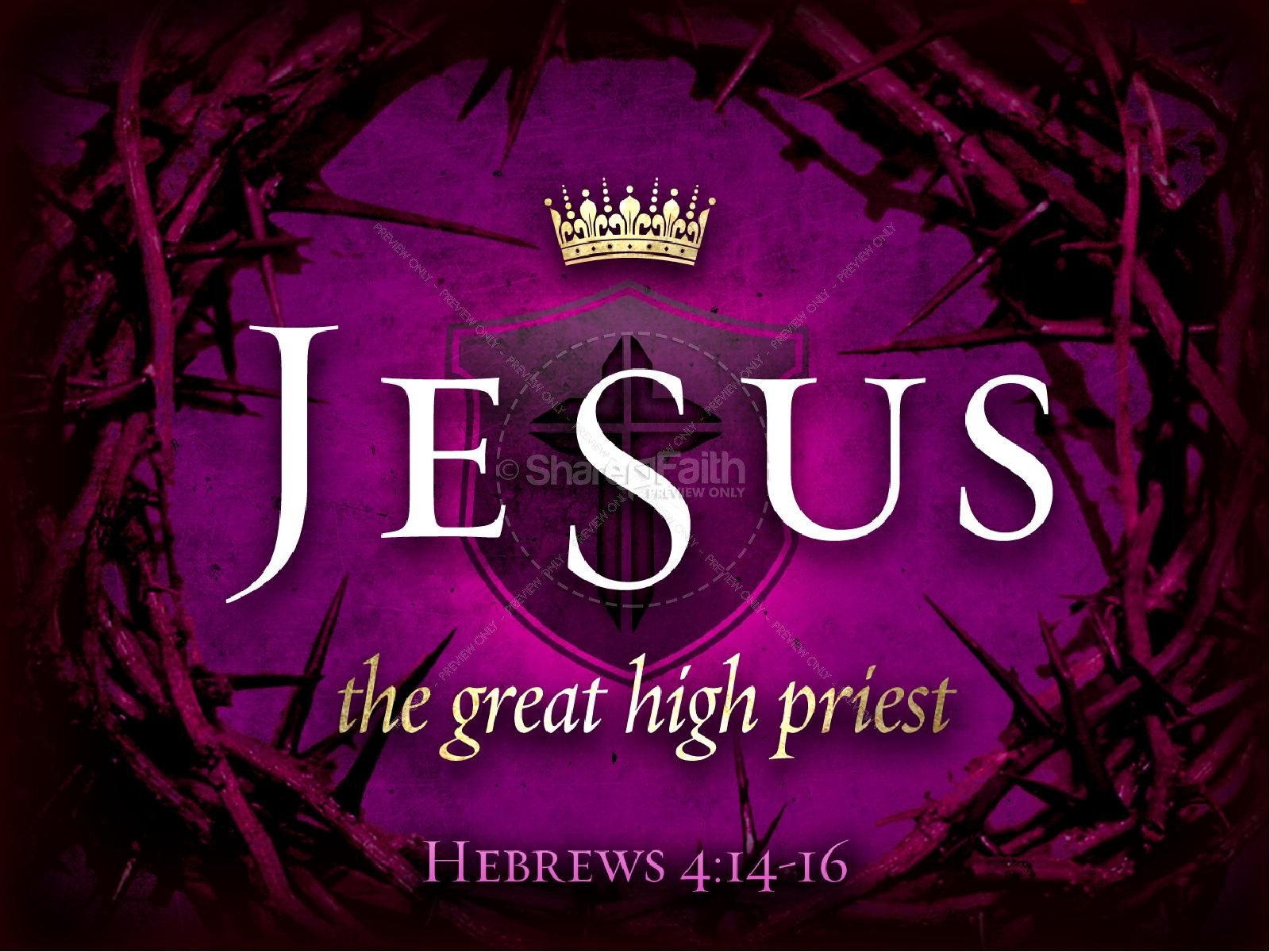 Jesus High Priest Resurrection Easter PowerPoint Template | slide 1