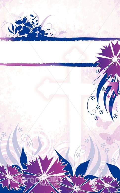 Floral Cross Bulletin Nature Bulletin Covers