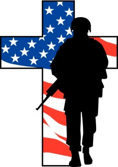 Solider Cross Silhouette