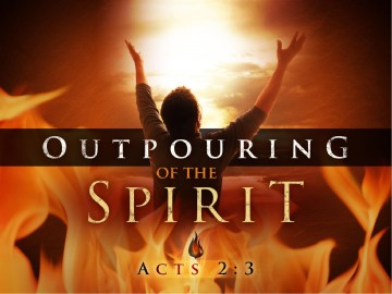 Outpouring of the Spirit Pentecost PowerPoint Template
