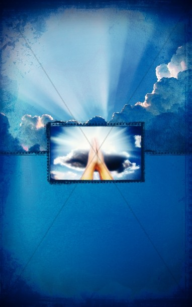 Praying Hands In The Clouds Bulletin Cover