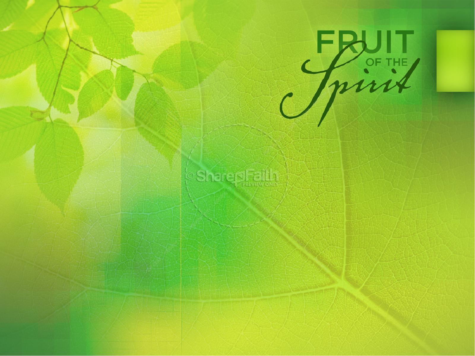 Joy Fruit Of The Spirit Powerpoint Template Pentecost