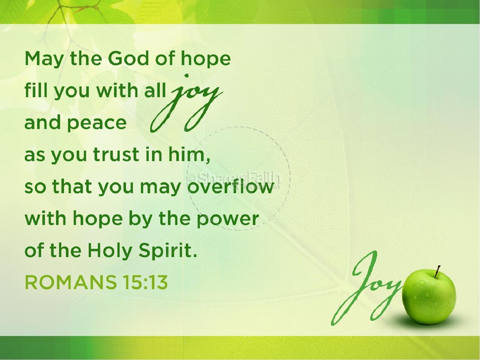 Joy Fruit of the Spirit PowerPoint Template
