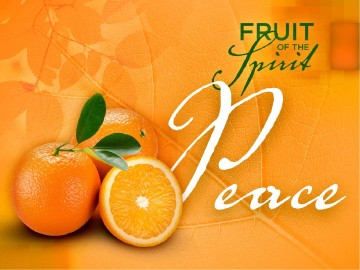Peace Fruit of the Spirit Pentecost PowerPoint Template